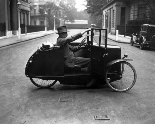 Avtomobil-velosiped. London, 1928-ci il
