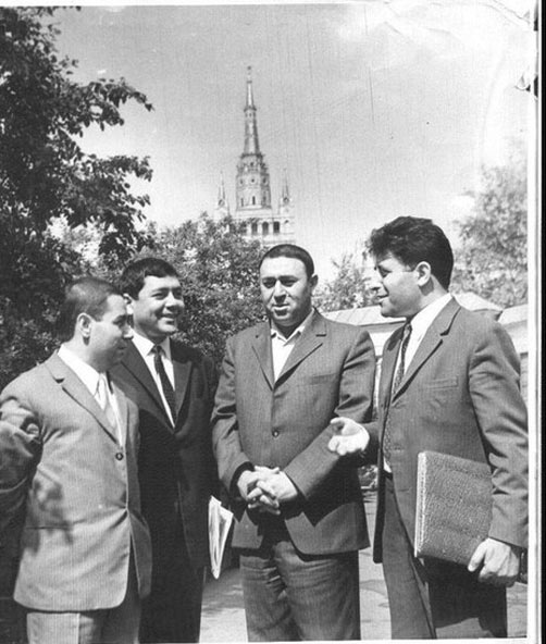 Əkrəm Əylisli, Cabir Novruz, Nəbi Xəzri və Məmməd Araz. Moskva, 1971-ci il  » Nostalgiya.az